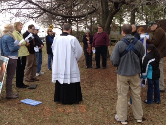 February 2014 with Fr. Reid at Hebron